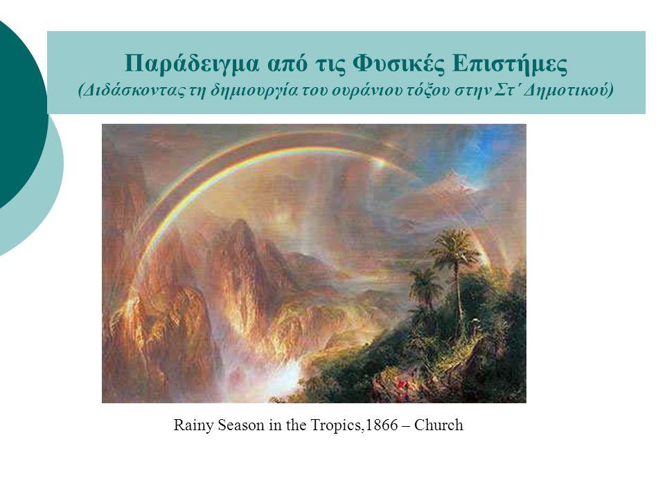 Rainy Season in the Tropics,1866 – Church Παράδειγμα από τις Φυσικές Επιστήμες (Διδάσκοντας τη δημιουργία του ουράνιου τόξου στην Στ΄ Δημοτικού)