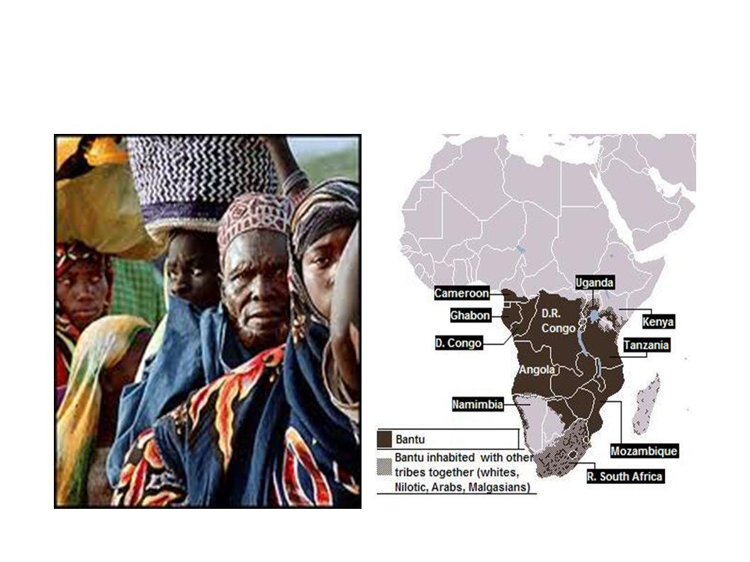 Μπαντού Γεωργοί της Αφρικής. Έχουν το δικότους τρόπο καλλιέργειας(κάθε δύο χρόνια καίνε μικρές δασικές εκτάσεις για να δημιουργήσουν νέα χωράφια.) Με