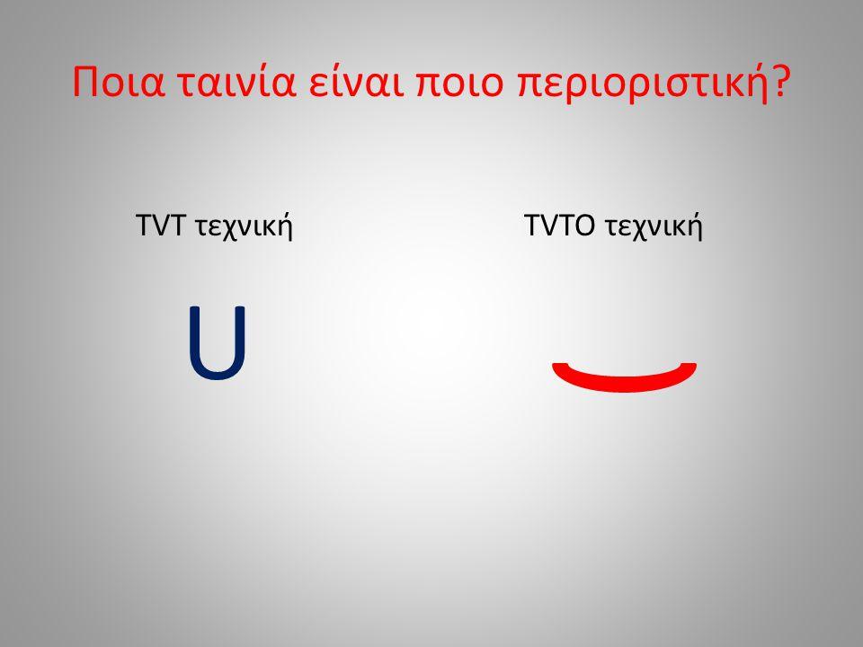Ποια ταινία είναι ποιο περιοριστική TVT τεχνική U TVTO τεχνική