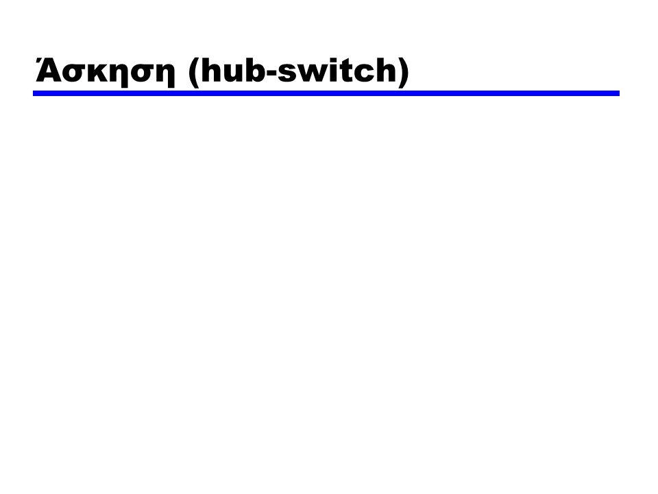 Άσκηση (hub-switch)