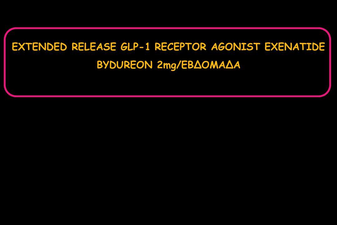 EXTENDED RELEASE GLP-1 RECEPTOR AGONIST EXENATIDE BYDUREON 2mg/ΕΒΔΟΜΑΔΑ