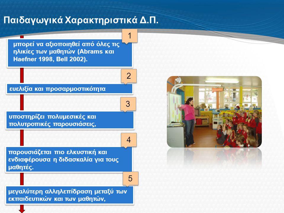 Παιδαγωγικά Χαρακτηριστικά Δ.Π.