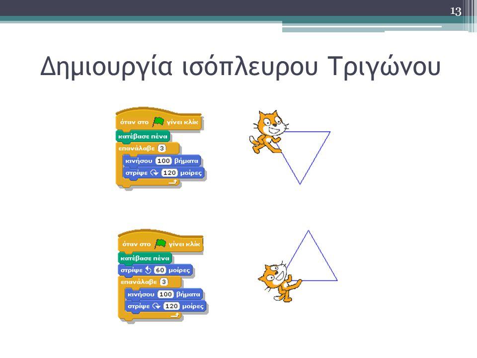 Δημιουργία ισόπλευρου Τριγώνου 13