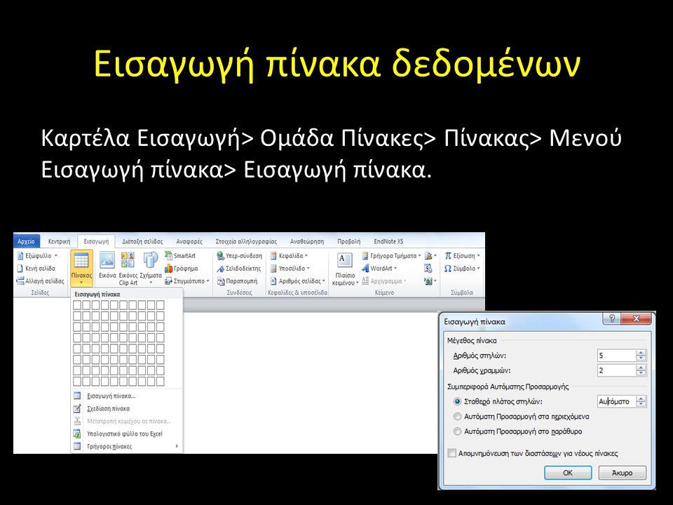 Εισαγωγή εναλλακτικού κειμένου σε πίνακα Κλικ στον πίνακα> Καρτέλα Εργαλεία Πίνακα> Διάταξη> Ομάδα Πίνακας> Ιδιότητες> Εναλλακτικό κείμενο> Περιγραφή> ΟΚ.