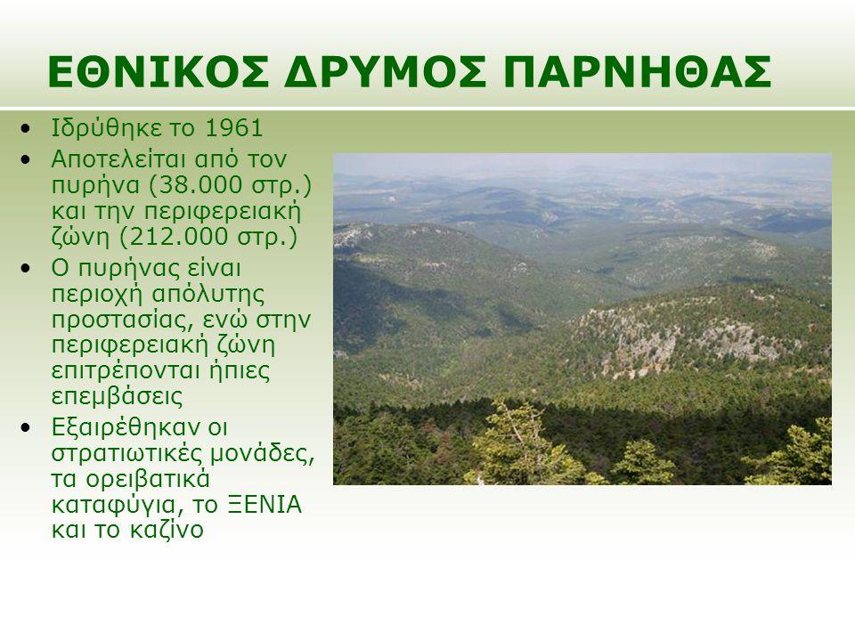 Ιδρύθηκε το 1961 Αποτελείται από τον πυρήνα (38.000 στρ.) και την περιφερειακή ζώνη (212.000 στρ.) Ο πυρήνας είναι περιοχή απόλυτης προστασίας, ενώ στ