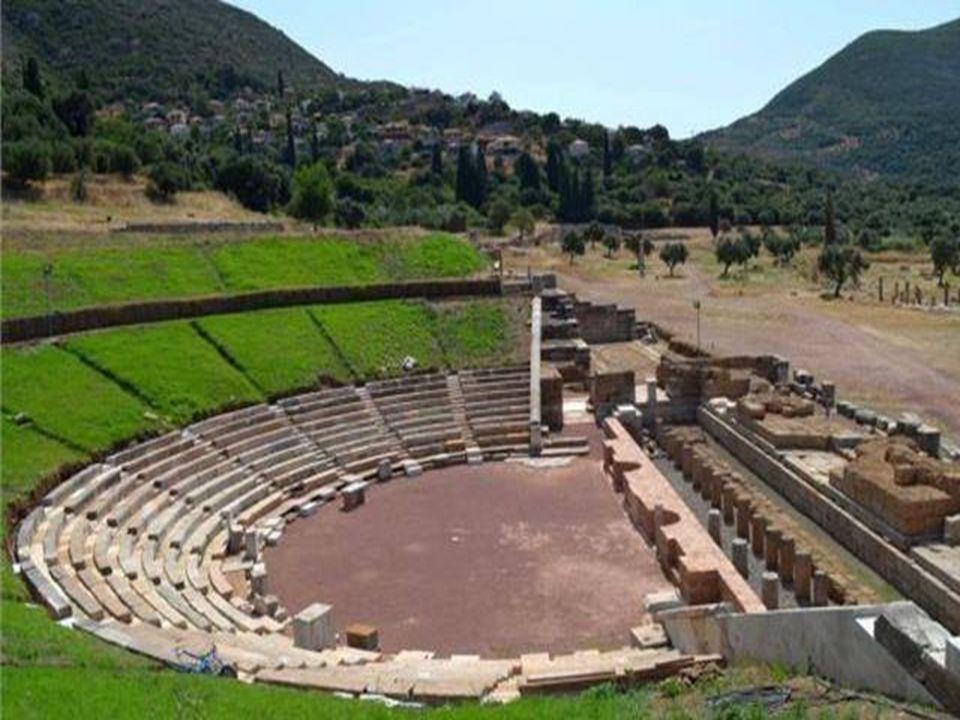  Περίληψη της εργασίας στην αγγλική γλώσσα  Ancient Theatres Now and Then  Ancient Greek theatres were usually built on hillsides of an amphitheatric shape.