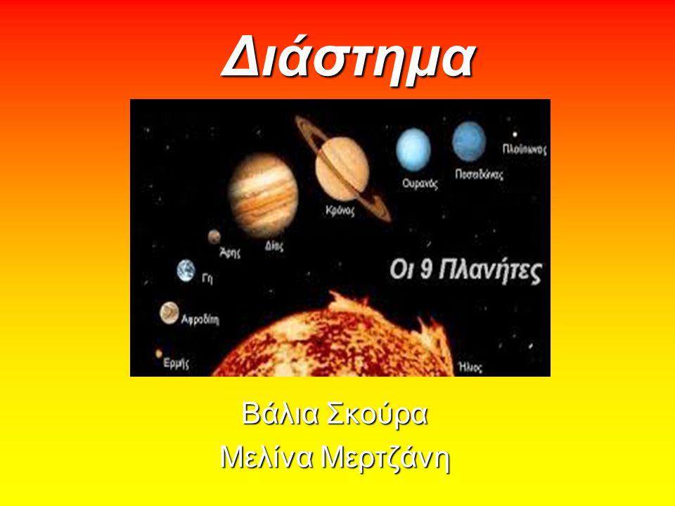 Τι είναι το διάστημα; Με τον όρο διάστημα (space) ή πιο επιστημονικά εξώτερο διάστημα (οuter space), περιγράφεται ο αχανής χώρος όπου κινούνται τα ουράνια σώματα και, ακριβέστερα, οι σχετικά κενές περιοχές μεταξύ των ουρανίων σωμάτων, πέρα από αυτά και τις ατμόσφαιρές τους