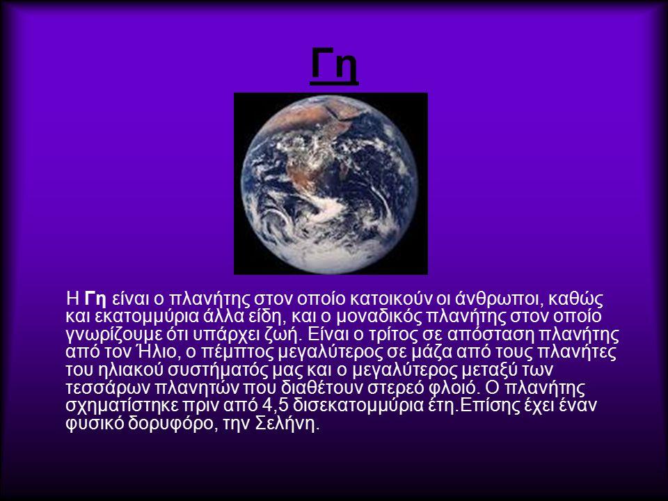 Γη Η Γη είναι ο πλανήτης στον οποίο κατοικούν οι άνθρωποι, καθώς και εκατομμύρια άλλα είδη, και ο μοναδικός πλανήτης στον οποίο γνωρίζουμε ότι υπάρχει