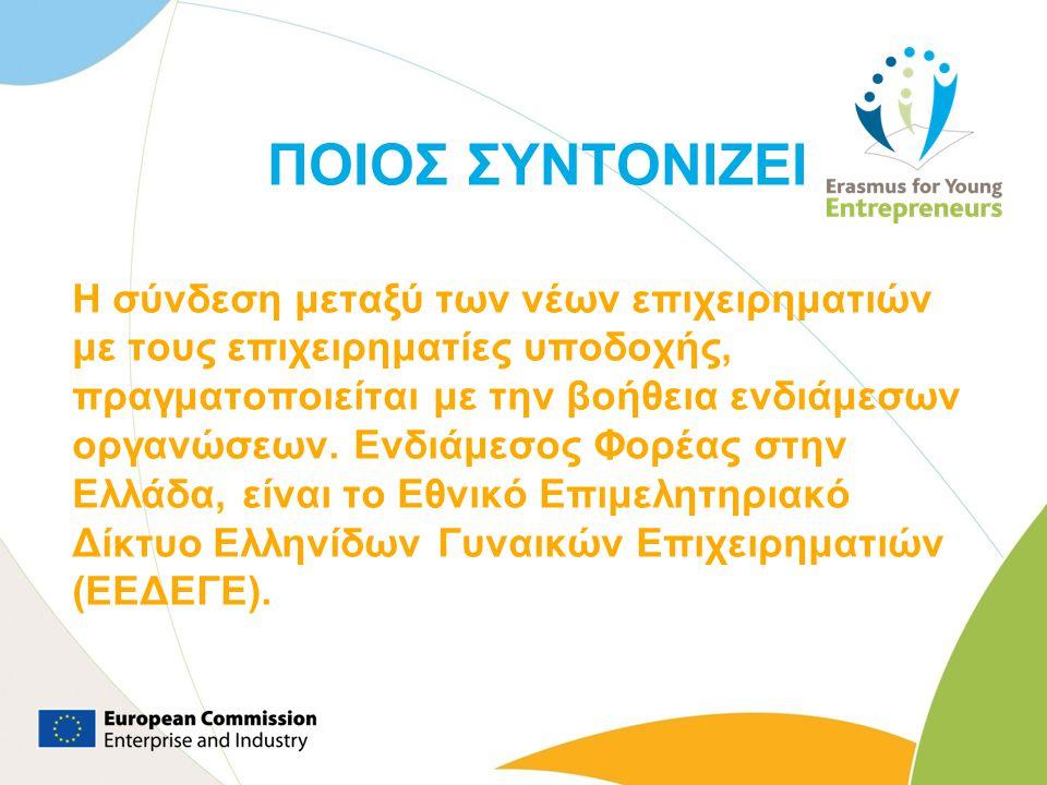 Στόχοι Προγράμματος Εξατομικευμένη υποστήριξη σε ΝΕ για την παροχή κατάρτισης και ανταλλαγής εμπειριών που θα βελτιώσουν την ποιότητα των νεοσύστατων επιχειρήσεων τους.