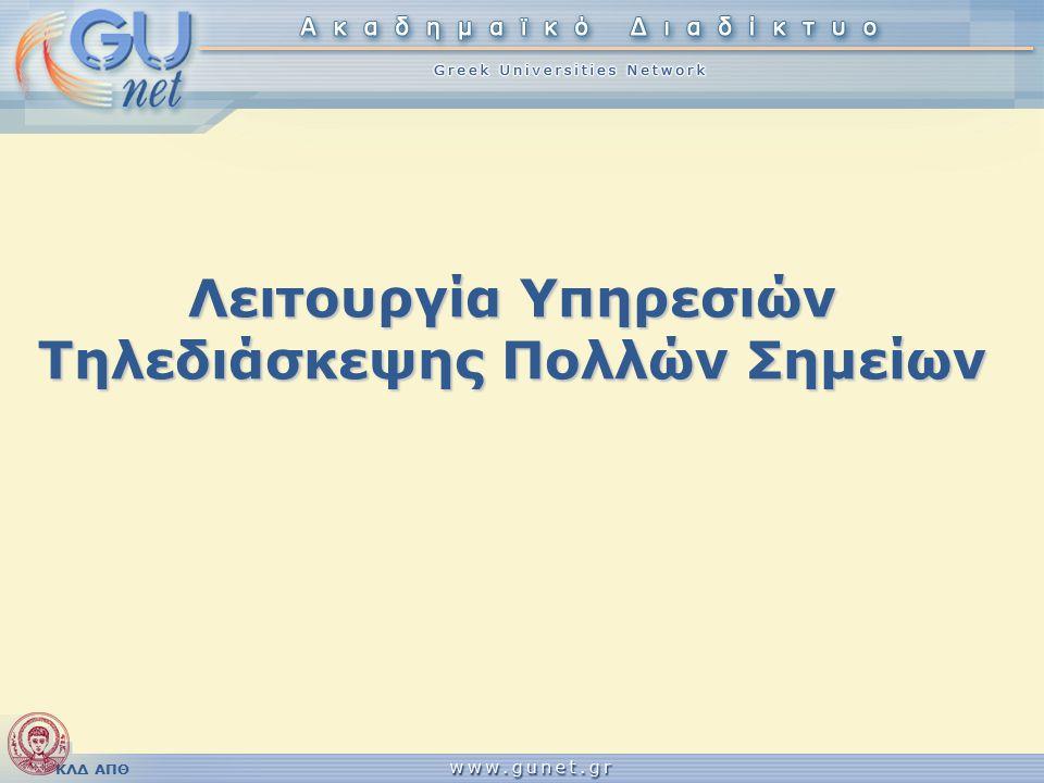 ΚΛΔ ΑΠΘ Απομακρυσμένοι χρήστες (9/10) Αρχείο: h323.conf [asterisk] type=h323 prefix=231899
