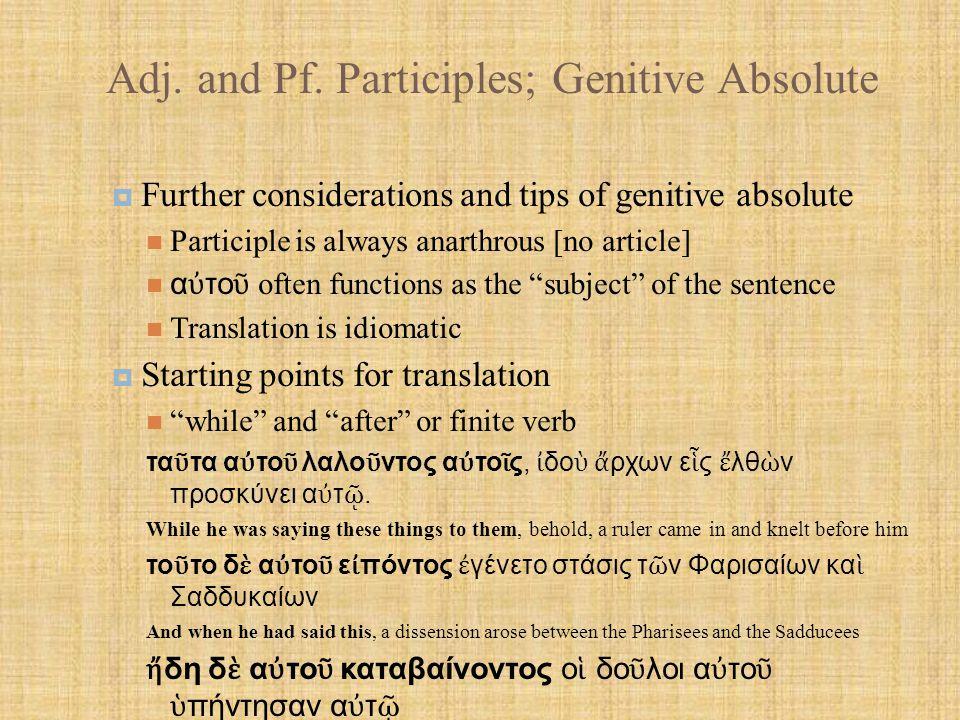 Adj.and Pf.
