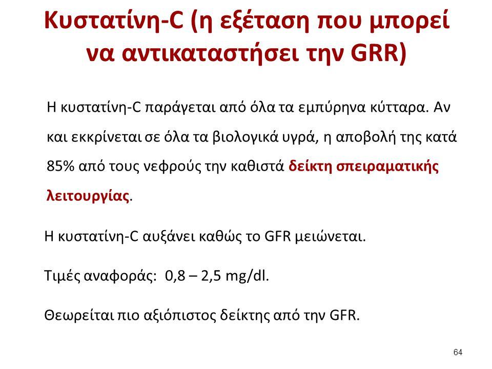 Κυστατίνη-C (η εξέταση που μπορεί να αντικαταστήσει την GRR) H κυστατίνη-C παράγεται από όλα τα εμπύρηνα κύτταρα.