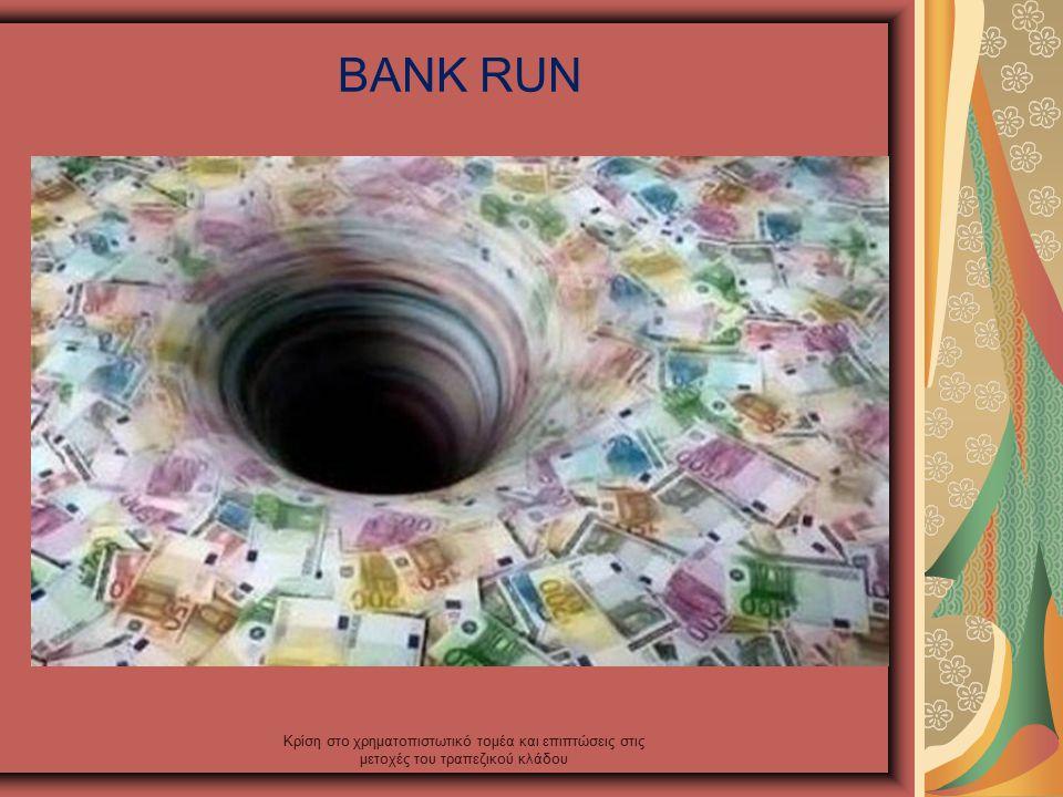 BANK RUN Κρίση στο χρηματοπιστωτικό τομέα και επιπτώσεις στις μετοχές του τραπεζικού κλάδου
