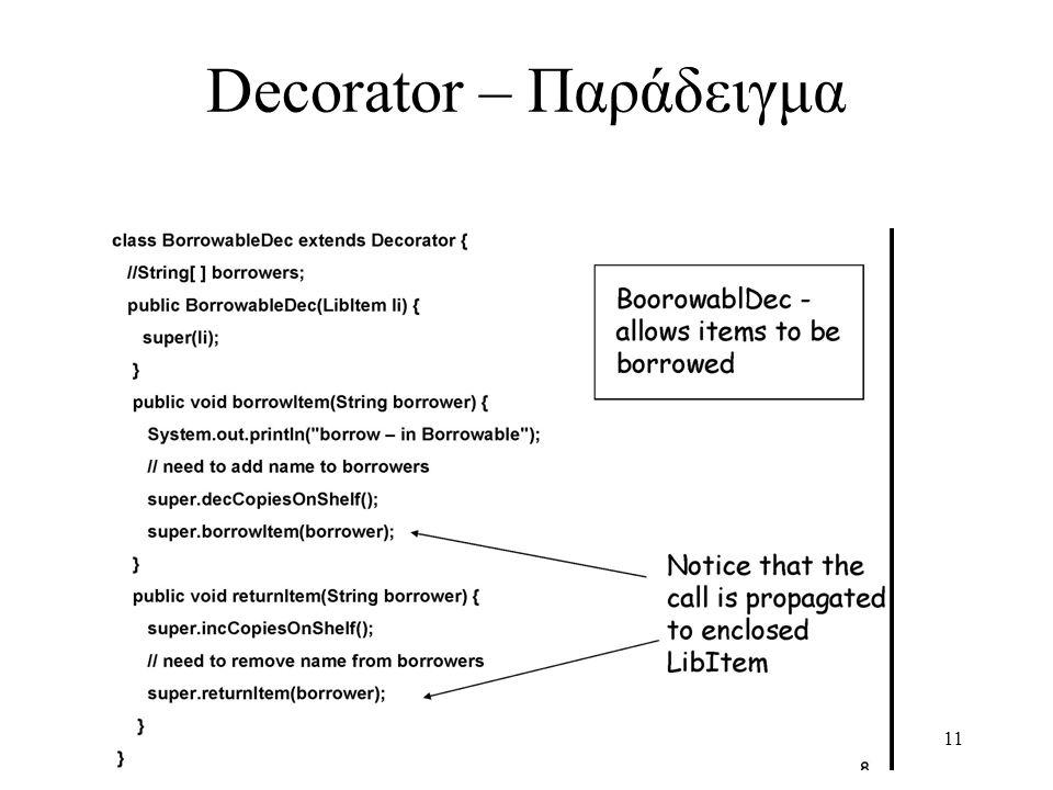 11 Decorator – Παράδειγμα