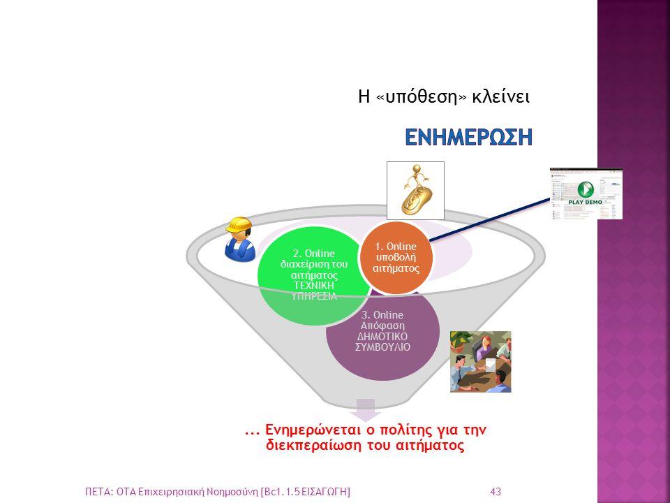 Η «υπόθεση» κλείνει 43 ΠΕΤΑ: ΟΤΑ Επιχειρησιακή Νοημοσύνη [Bc1.1.5 ΕΙΣΑΓΩΓΗ]...