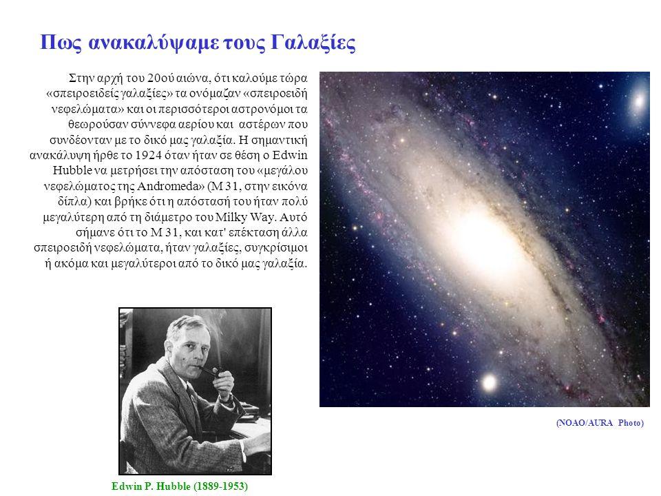 Πως ανακαλύψαμε τους Γαλαξίες Στην αρχή του 20ού αιώνα, ότι καλούμε τώρα «σπειροειδείς γαλαξίες» τα ονόμαζαν «σπειροειδή νεφελώματα» και οι περισσότεροι αστρονόμοι τα θεωρούσαν σύννεφα αερίου και αστέρων που συνδέονταν με το δικό μας γαλαξία.
