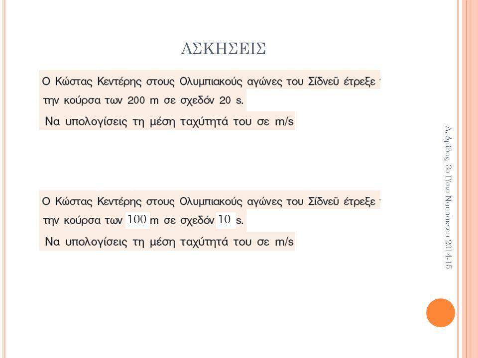 ΑΣΚΗΣΕΙΣ 10010 Α. Δρίβας, 3ο Γ/σιο Ναυπάκτου 2014-15