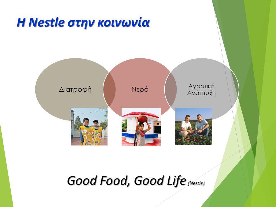 Η Nestle στην κοινωνία ΔιατροφήΝερό Αγροτική Ανάπτυξη Good Food, Good Life (Nestle)