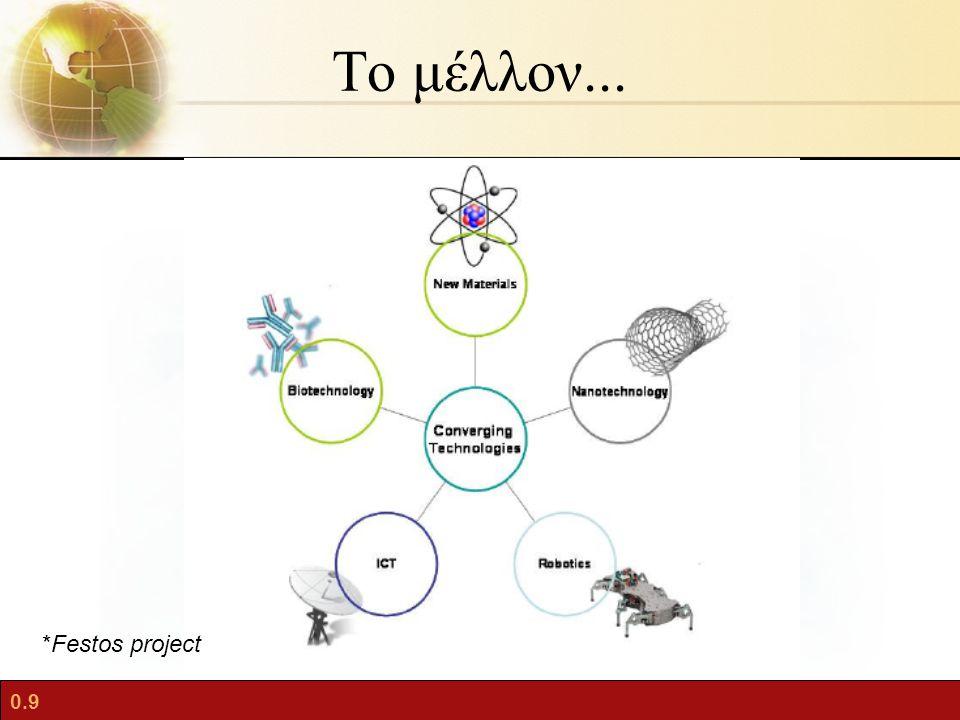 0.9 Το μέλλον... *Festos project