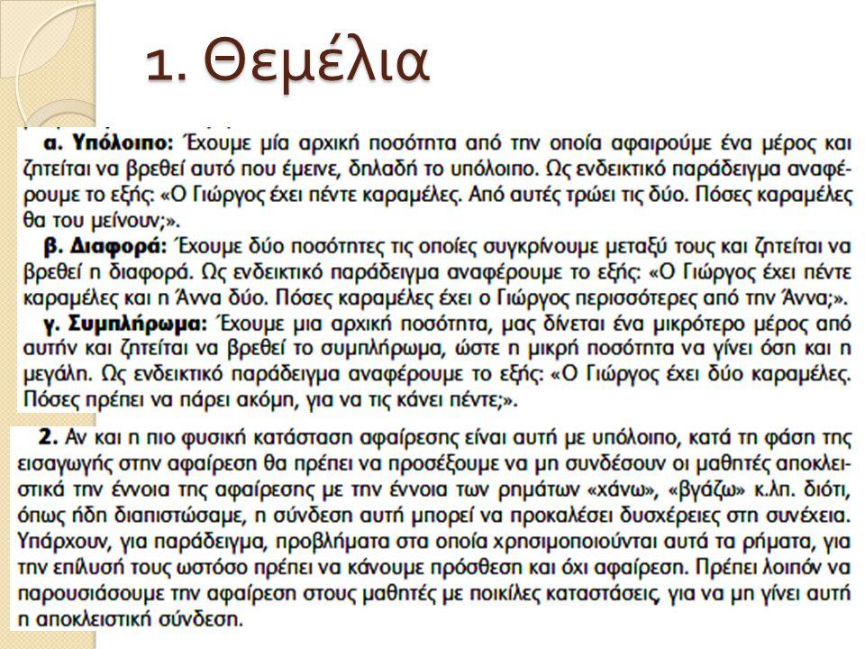 1. Θεμέλια