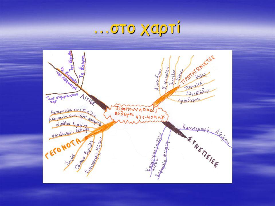 Ε' δημοτικού Αρχικός χάρτης της 3ης ομάδας