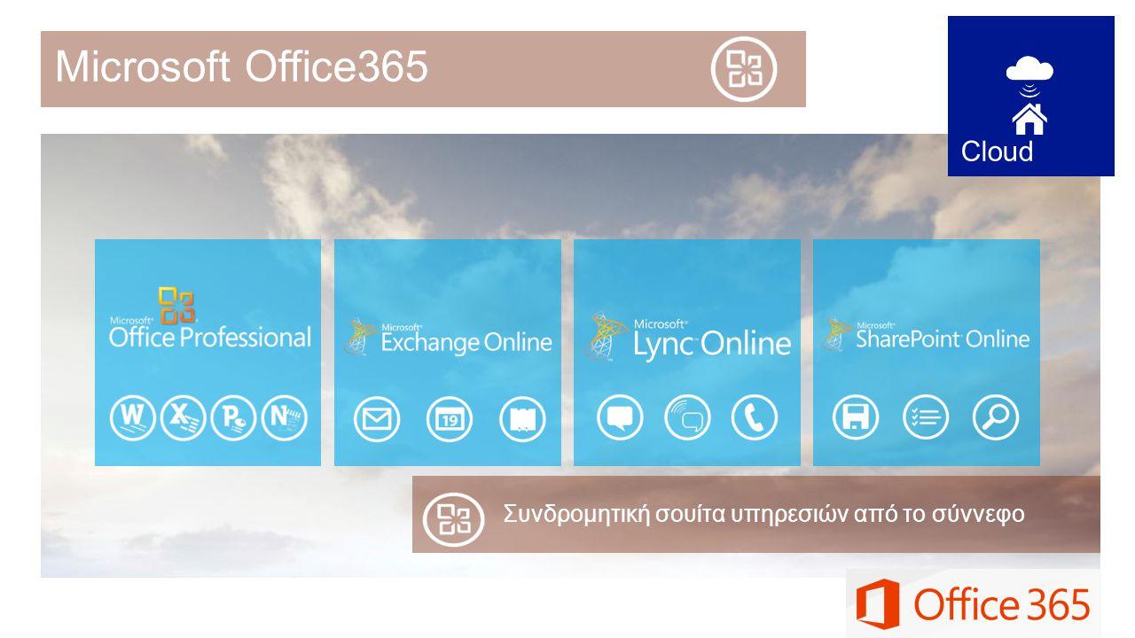 Συνδρομητική σουίτα υπηρεσιών από το σύννεφο Microsoft Οffice365 Cloud