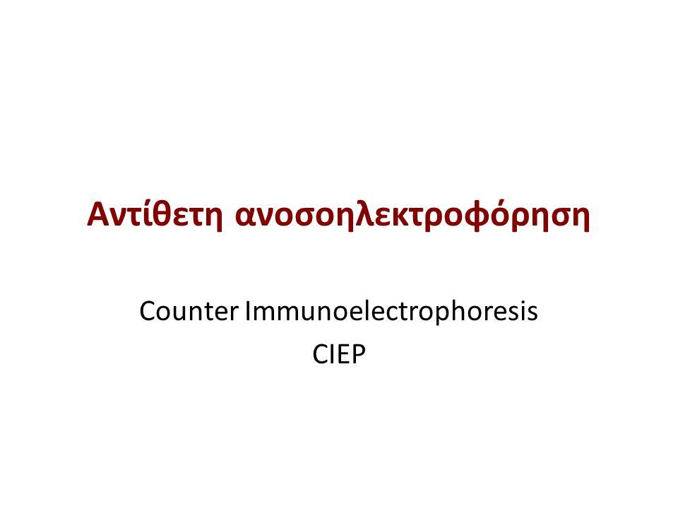 Αντίθετη ανοσοηλεκτρoφόρηση Counter Immunoelectrophoresis CIEP