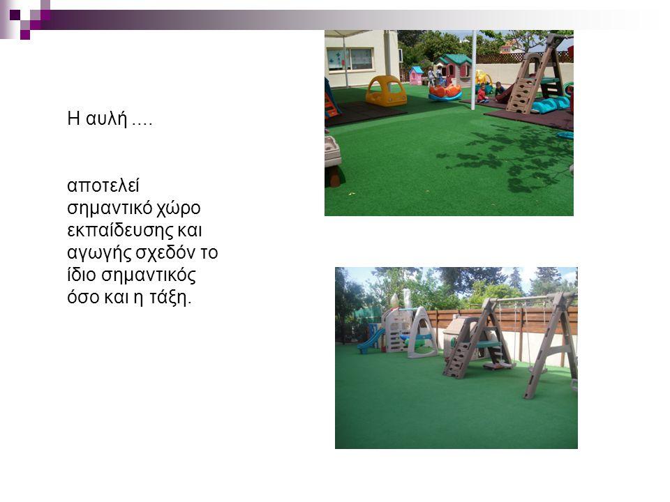 Η αυλή.... αποτελεί σημαντικό χώρο εκπαίδευσης και αγωγής σχεδόν το ίδιο σημαντικός όσο και η τάξη.