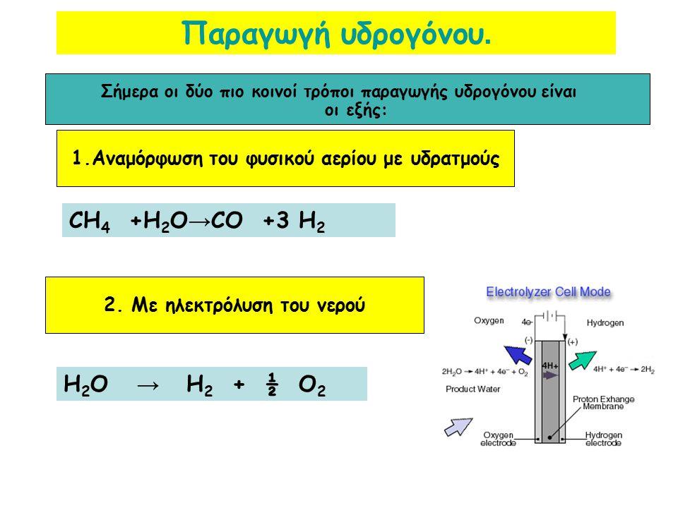 Οι μέθοδοι παρασκευής, ενδεικτικά, χωρίζονται σε 3 κατηγορίες, τις θερμοχημικές, τις ηλεκτρολυτικές και τις φωτολυτικές. ΒΙΟΜΗΧΑΝΙΚΗ ΠΑΡΑΓΩΓΗ ΥΔΡΟΓΟΝΟ