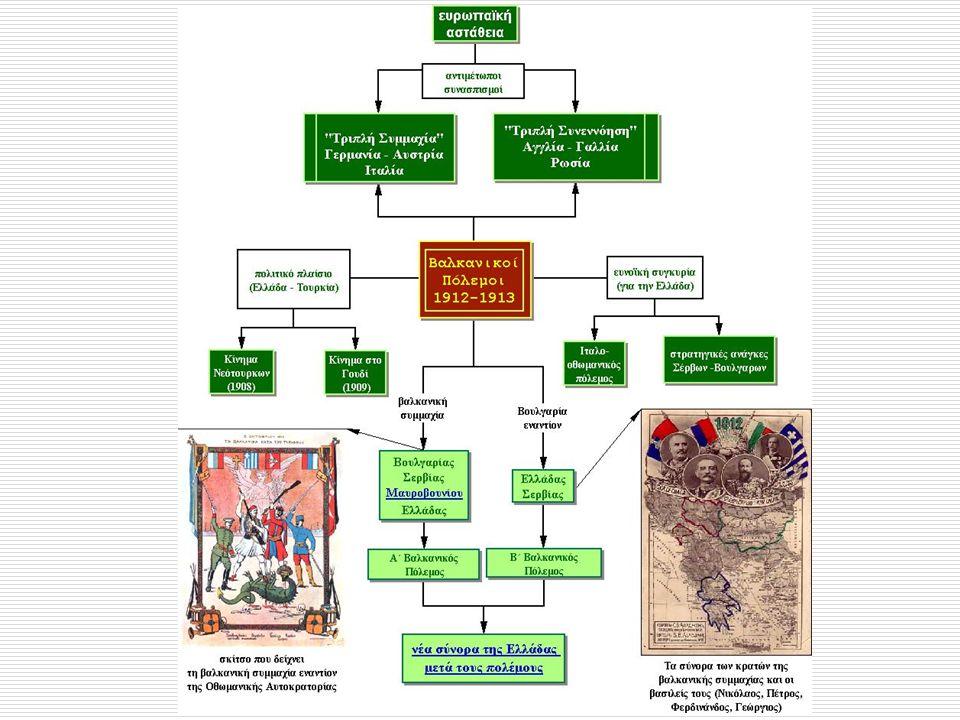 ενώ η Βουλγαρία ενώ είχε πολύ μεγάλες απώλειες ειδικά στο μέτωπο της Αδριανούπολης μετά τον Β΄ Βαλκανικό πόλεμο τον οποίο η ίδια προκάλεσε, δεν είχε μεγάλα εδαφικά κέρδη.Αδριανούπολης