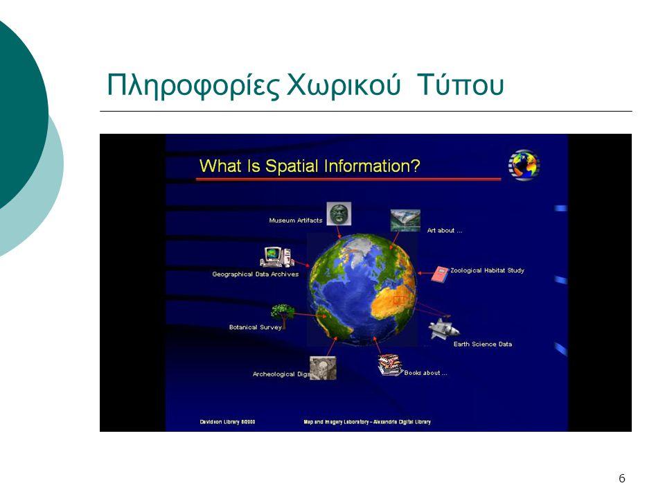 6 Πληροφορίες Χωρικού Τύπου