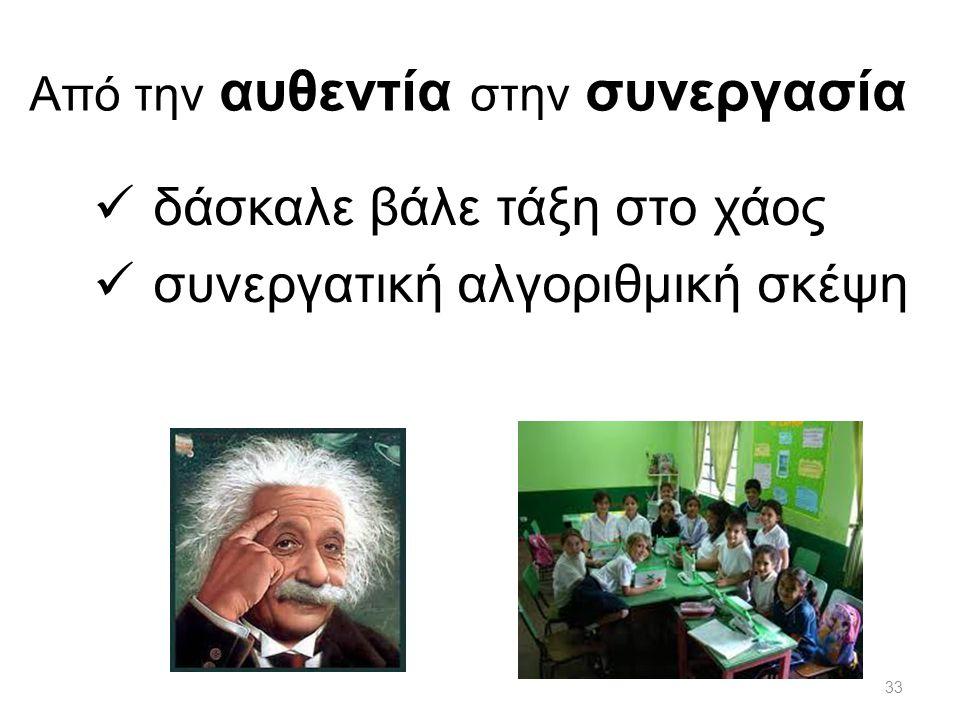 Από την αυθεντία στην συνεργασία δάσκαλε βάλε τάξη στο χάος συνεργατική αλγοριθμική σκέψη 33