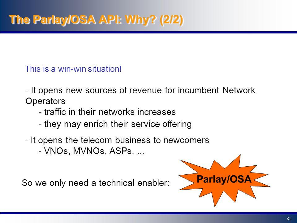 60 The Parlay/OSA API: Why.
