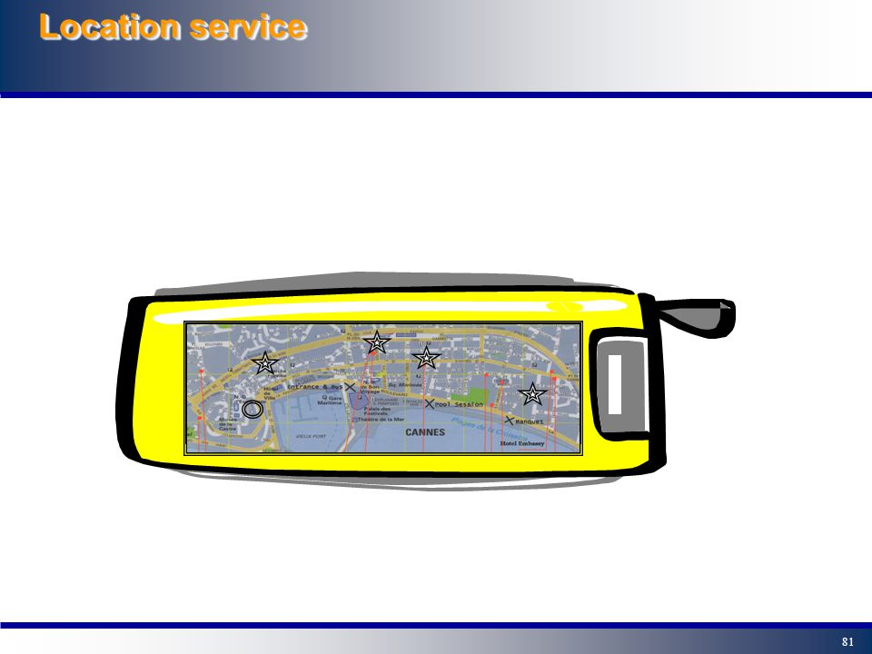80 Location Service The idea is that the user is able to find out the nearest ATM machine Directions From To ATM Bank Police Default
