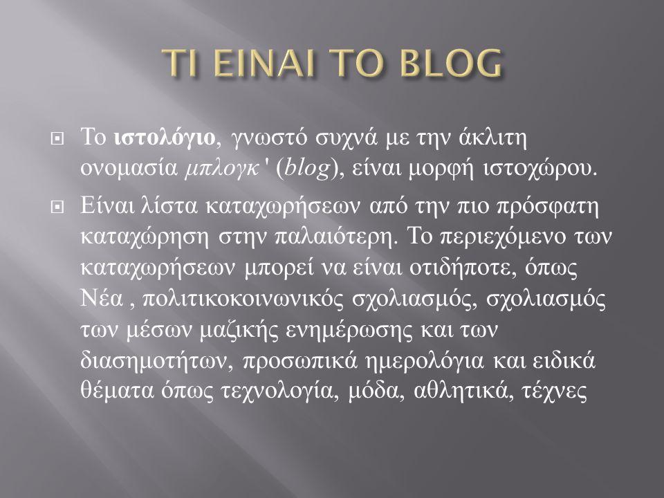 Το 1998 υπήρχαν ελάχιστες ιστοσελίδες τύπου blog.