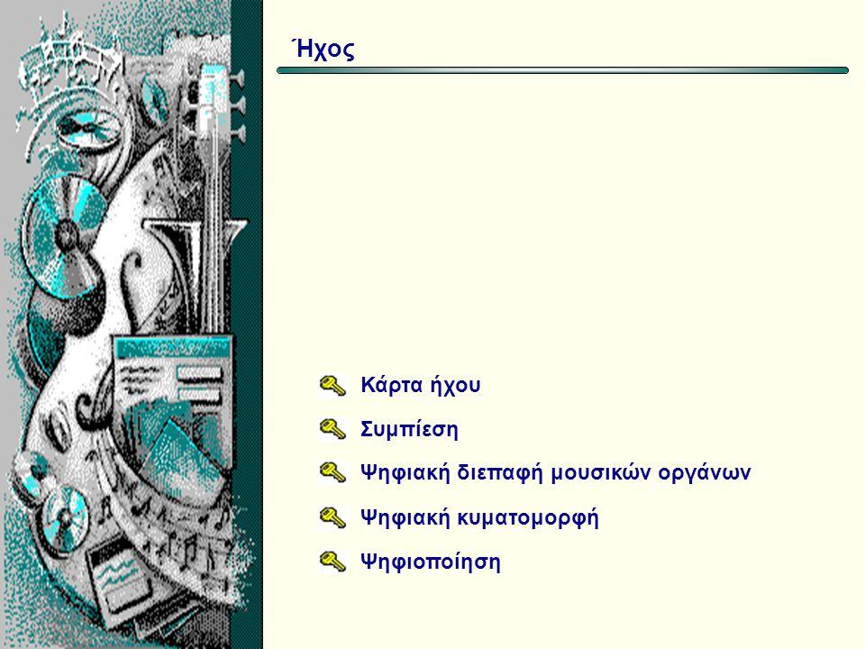 Αρχείο aif wav mid mp3 ΟνομασίαΠεριγραφή Audio Interchange File Format Waveform MIDI MPEG-1 Layer III Ψηφιοποιημένος ήχος (Apple, Microsoft, SG) Ψηφιοποιημένος ήχος (Microsoft) Διεθνές πρότυπο αρχείων MIDI Συμπιεσμένος ήχος με βάση το πρότυπο MP3 Είδη αρχείων ήχου Ήχος