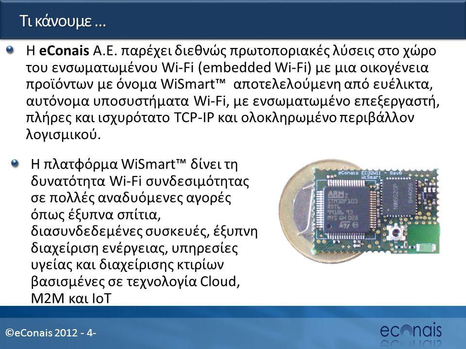 ©eConais 2012 - 4- Τι κάνουμε … Η eConais A.E.