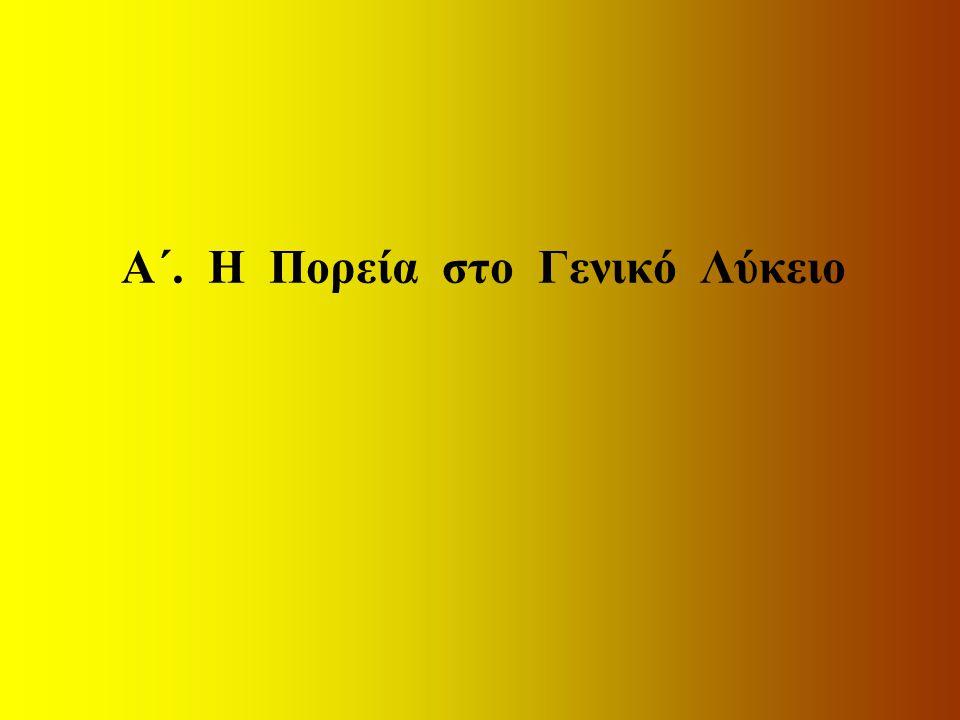 1-20 Φεβρουαρίου υποβάλλεται από τους αποφοίτους Αίτηση- Δήλωση για: –Την κατεύθυνση, –Το 2ο πανελλαδικώς εξεταζόμενο μάθημα γεν.