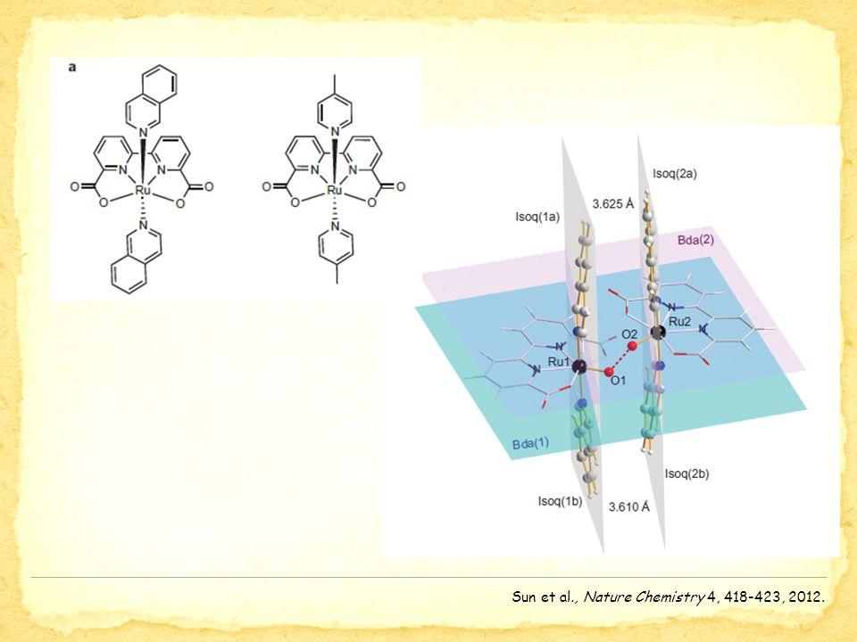 Sun et al., Nature Chemistry 4, 418-423, 2012.