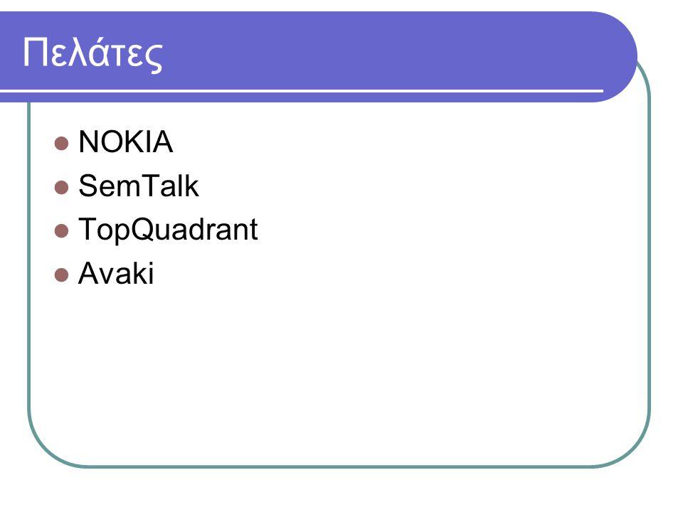 Πελάτες NOKIA SemTalk TopQuadrant Avaki