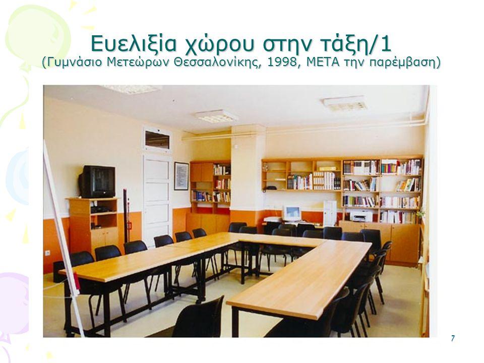 2-5-0637 Ευελιξία χώρου στην τάξη/1 (Γυμνάσιο Μετεώρων Θεσσαλονίκης, 1998, ΜΕΤΑ την παρέμβαση)