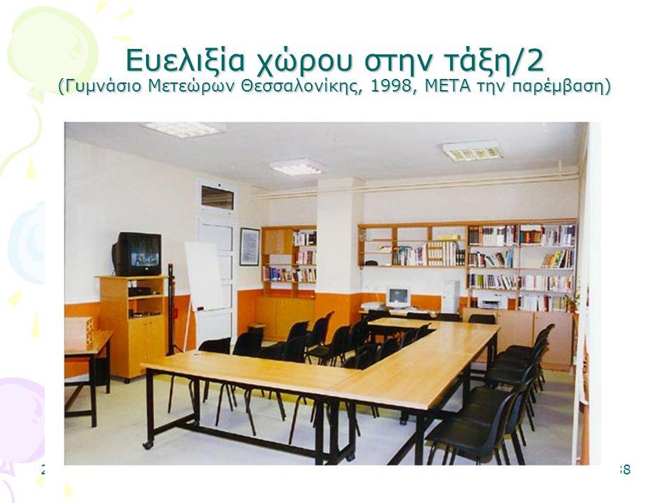 2-5-0638 Ευελιξία χώρου στην τάξη/2 (Γυμνάσιο Μετεώρων Θεσσαλονίκης, 1998, ΜΕΤΑ την παρέμβαση)
