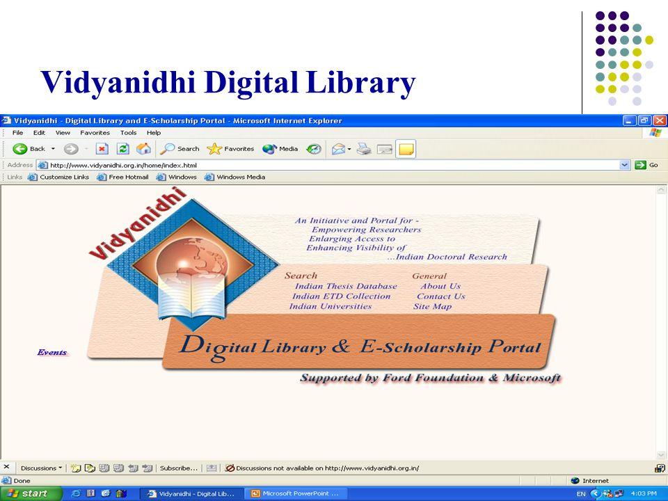 18 Vidyanidhi Digital Library