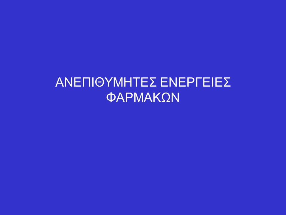 ΑΝΕΠΙΘΥΜΗΤΕΣ ΕΝΕΡΓΕΙΕΣ ΦΑΡΜΑΚΩΝ