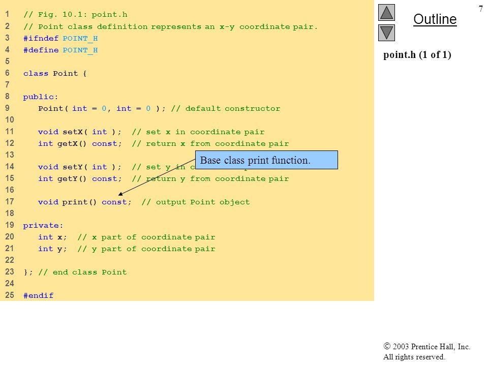 18 Δείκτης παραγόμενης κλάσης σε αντικείμενο της κλάσης βάσης Στο προηγούμενο παράδειγμα είδαμε –Δείκτης κλάσης βάσης σε αντικείμενο της παραγόμενης κλάσης Circle is a Point Δείκτης παραγόμενης κλάσης σε αντικείμενο της κλάσης βάσης –Compiler error Point is not a Circle Η κλάση Circle διαθέτει ιδιότητες/λειτουργίες που δεν διαθέτει η κλάση Point –Π.χ.