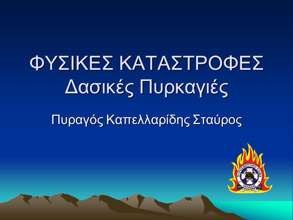 ΦΥΣΙΚΕΣ ΚΑΤΑΣΤΡΟΦΕΣ Δασικές Πυρκαγιές Πυραγός Καπελλαρίδης Σταύρος