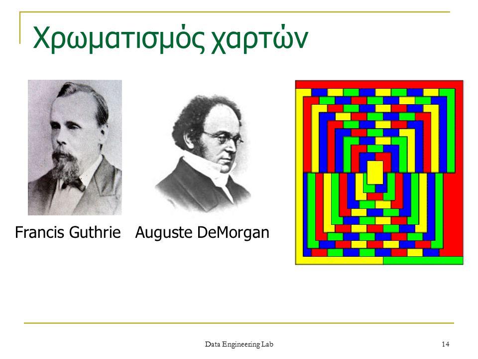 Francis Guthrie Auguste DeMorgan Χρωματισμός χαρτών Data Engineering Lab 14