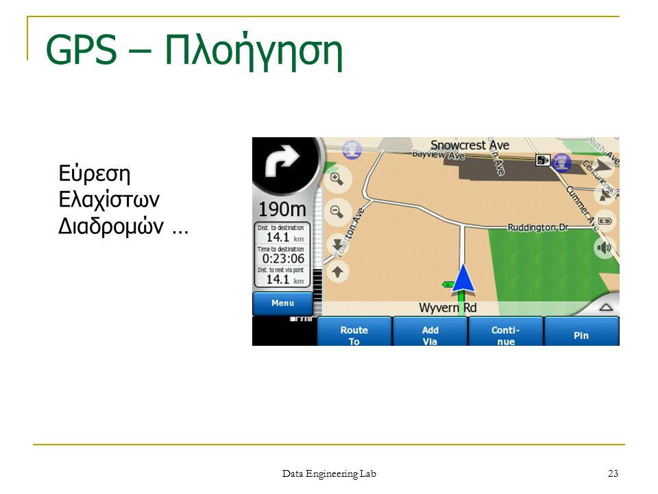 Data Engineering Lab GPS – Πλοήγηση Εύρεση Ελαχίστων Διαδρομών … 23