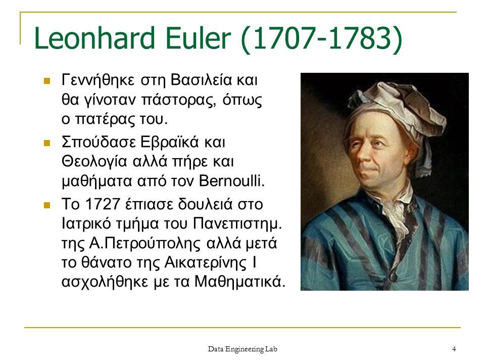 Γεννήθηκε στη Βασιλεία και θα γίνοταν πάστορας, όπως ο πατέρας του. Σπούδασε Εβραϊκά και Θεολογία αλλά πήρε και μαθήματα από τον Bernoulli. Το 1727 έπ