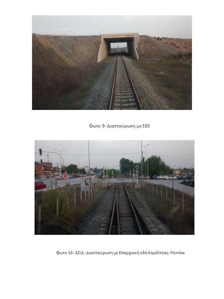 Φωτο 10: ΑΣΙΔ -Διασταύρωση με Επαρχιακή οδό Καρδίτσας- Ρεντίνα Φωτο 9: Διασταύρωση με Ε65